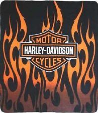 Harley Davidson 50 x 60 Fleece Throw Blanket - Fire