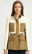 NWT $795 Theory 'Macaire L' Leather/Canvas Jacket Size L !!