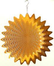 """Wind Spinner - Gold - Outdoor/Indoor  - Stainless Steel - 12"""" Across"""