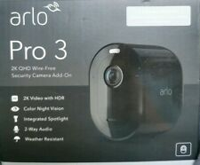 Arlo - Pro 3 Indoor/Outdoor 2K HDR Wire Free Security Camera - Black NEW SEALED