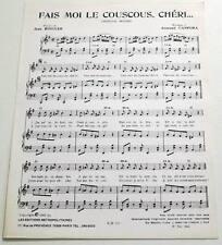 Partition sheet music BOB AZZAM : Fais Moi le Couscous Chéri ... * 60's BINGLER