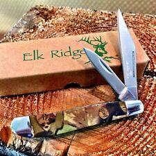 Elk Ridge 2 Blade Gentleman's Trapper Knife Pocket Knife ER-226SC New! C