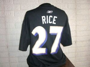 Baltimore Ravens RAY RICE football jersey style t-shirt men's XL
