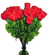HAAC 10er Set künstliche Rose Rosenknospe Rosen Farbe Rot 65 cm