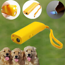 Yellow ULTRASONIC  Pet Dog REPELLER TRAINING AID STOP ANTI BARKING DEVICE TOP