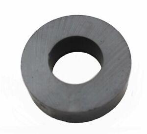 "Ferrite Donut / Ring Ceramic Magnet, 1.75"" OD, 0.86"" ID, 0.5"" thick."