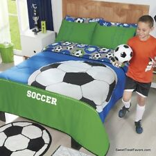 Futbol Soccer Comforter Bedding Sheets Bedroom Bedsrpread Sports Full/Queen 3PC