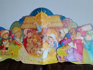 Vintage Retro Kitsch Christmas Nativity Wall Picture Hanging Frieze