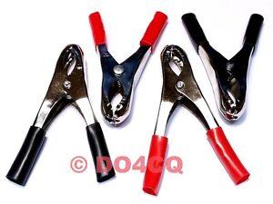 4 Stück Krokodilklemmen 20A ( 2x Rot und 2x schwarz) Batterieklemmen ( D04A )