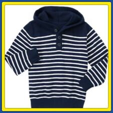 NWT Boys S (5-6) Gymboree EVERYDAY ALL STAR Blue STRIPED HOODED cotton SWEATER