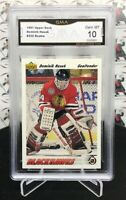 1991-92 UPPER DECK DOMINIK HASEK RC ROOKIE CARD #335 BLACKHAWKS         JY14