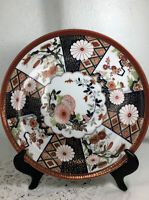 Vintage Japanese Imari Porcelain Plate  Decorative Flowers.