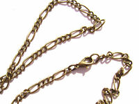 """ALL SIZES 16/"""" to 50/"""" 5 or 1 Qty Chain Necklace Handmade Gold plated Steel"""