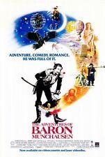 THE ADVENTURES OF BARON MUNCHAUSEN Movie POSTER 27x40 B John Neville Eric Idle