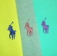 XL LOT OF THREE (3): Polo Ralph Lauren CUSTOM FIT Green Short Sleeve Polo Shirts
