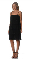 Katies Ladies Tequila Sunrise Sleeveless Ruffle Dress size 16 Colour Black