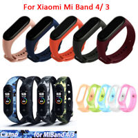 For Xiaomi Mi Band 4/ 3 Strap Replace Bracelet Silicone Wristband Watch Band-WI