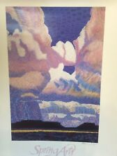 "Spring Arts Celebration Taos Poster Print Signed Rosemary Ryan Wall Art 24""x 18"""
