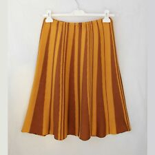 Silk  knitted skirt yellow and bronze stripes