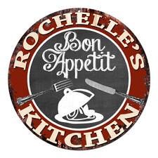 CPBK-0443 ROCHELLE'S KITCHEN Bon Appetit Chic Tin Sign Decor Gift Ideas