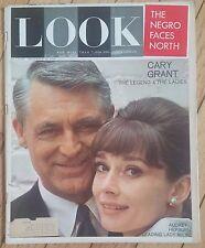 LOOK MAGAZINE DECEMBER 17 1963 NEGRO FACES NORTH CARY GRANT AUDREY HEPBURN