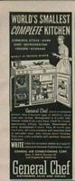1955 Print Ad General Chef Complete Kitchen,Oven,Refrigerator,Sink Los Angeles,C