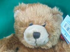 KEEL TOYS SIMPLY SOFT COLLECTION BROWN TEDDY BEAR PLASTIC SHIELD TAG PLUSH