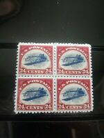 "SC# C3a US Air Mail ""Inverted Jenny"" Stamp Reproduction Place Holders Block of 4"