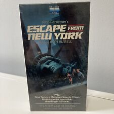 Escape from New York Kurt Russell VHS nelson entertainment Still Sealed 1984