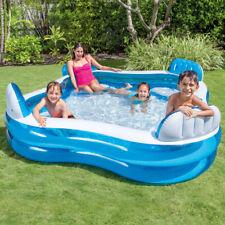 INTEX Swim Center Lounge Family Swimming Pool mit Getränkehalter Blau