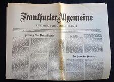 FAZ, Frankfurter Allgemeine Zeitung Nr. 1, Erstausgabe 1.11.1949, Nachdruck