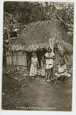 Postcard 1918 Nicaragua Leon Chosa Indians Native House Posted to Paris France