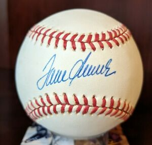 Tom Seaver Signed Autographed Auto OML Baseball Mets Reds HOF JSA Cert With Case