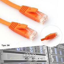 3M New CAT6 CAT 6 Flat UTP Ethernet Network Cable RJ45 Patch LAN Cord Orange GA