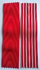 Lot de 2 rubans NEUFS pour Légion d'honneur et médaille campagne d'Italie 1859.