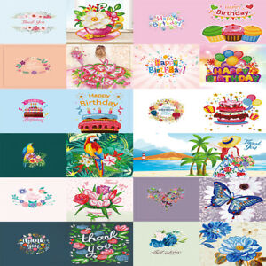 12pcs DIY Diamond Painting Greeting Cards Birthday Xmas Embroidery Postcard Kits