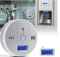 UK LCD CO Carbon Monoxide Poisoning Gas Warning Sensor Alarm Detector Cou New