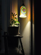 Mosaic Glass Hanging Lamp Shade Pendant Bedroom Ceiling Light Fixture Lantern