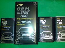7 Liter MANNOL 0W-40 Motoröl 7719 O.E.M.OEM für BMW MINI MB VW GM Ford Fiat Opel