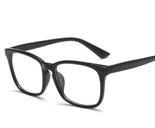 Men Women Black Frame Full Rim Glasses Spectacles Retro Vintage Eyeglass