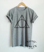 Floral Deathly Hallows T-Shirt Blossom Flower Unisex Tees
