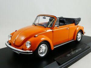 Norev Volkswagen Maggiolino Beetle 1303 cabriolet orange 1973 1/18 188521