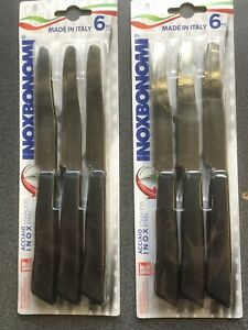 12x High Quality Serrated Edge Table Knives Inoxbonomi Knife Made in Italy