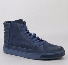 New Gucci Men's Blue Suede Hi-top Sneakers 11 G/US 11.5 378989 4239