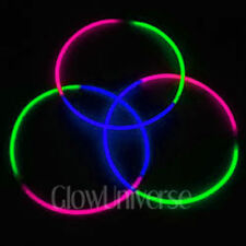 "100 24"" Glow Necklaces in Tri-Color Green, Pink, Blue"