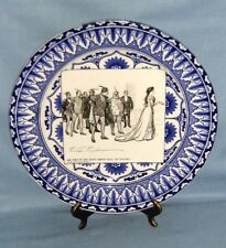 Royal Doulton transferware Historical Plate She Goes To The Fancy Ball.