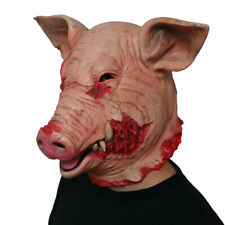 US! Halloween Creepy Scary mask Slaughtered Pig latex Masks Party Horrible Masks