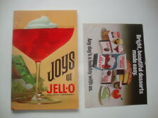 "Vintage JELL-O: ""JOYS of JELL-O"" + Jell-O recipe brochure"
