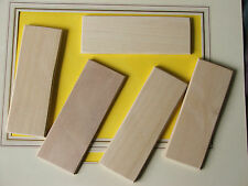 NAMEPLATES (HARDWOOD BLANK)-FOR PYROGRAPHY WORK-5 IN LOT-£3-75 + POSTAGE £1-50