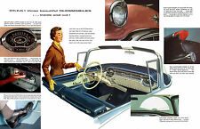 1956 Oldsmobile Luxury Features Showroom Wall illustration 12 x 19 Giclee Print